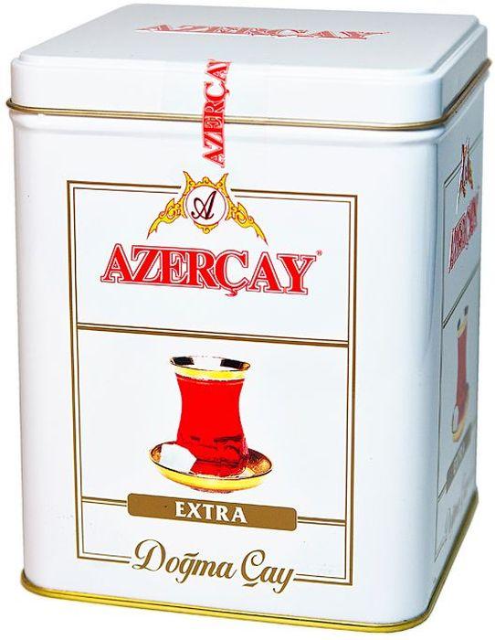 Azercay Extra чай черный листовой, 250 г4760001701486Чай черный байховый высшего сорта. Смесь чаев из регионов Азербайджана Ленкоран и Астара.Способ приготовления: заварить из расчета 1 чайная ложка на чашку. Настаивать 5-6 минут.