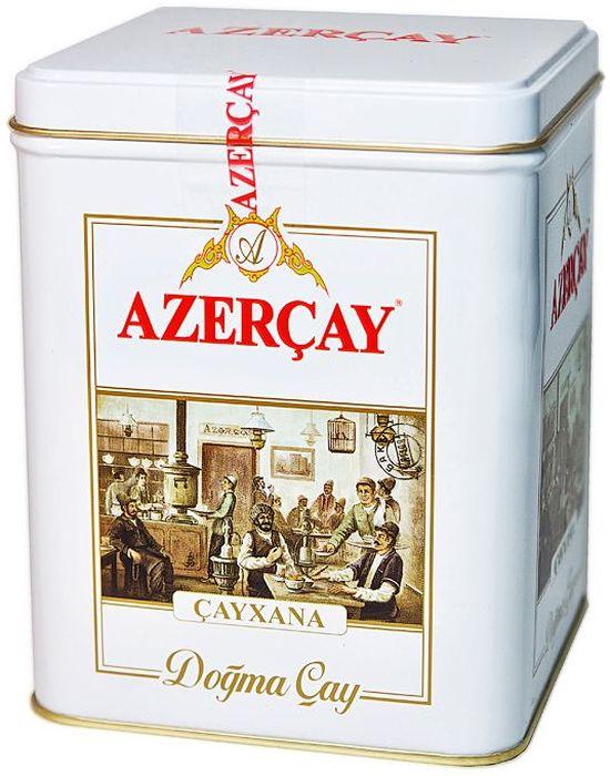 Azercay Cayxana чай черный листовой с бергамотом, 250 г101246Черный байховый чай высшего сорта с ароматом бергамота. Хранить в сухом помещении от пахучих веществ при относительной влажности не более 70%. Способ приготовления: в сухой разогретый чайник добавить чай из расчета 2 чайные ложки на каждые 200 мл воды, залить чайник кипятком и дать настояться 6-7 минут.