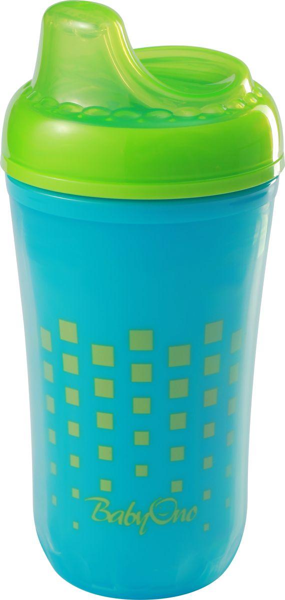 BabyOno Поильник-непроливайка от 12 месяцев цвет голубой зеленый 220 мл