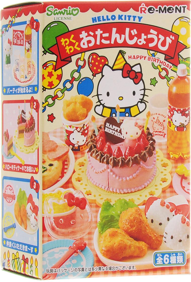 Hello Kitty Набор фигурок С днем рожденья игрушки для кукольных домиков re ment re ment rement hello kitty supermarket