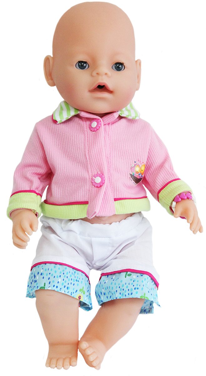 S+S Toys Пупс цвет одежды розовый белый салатовый