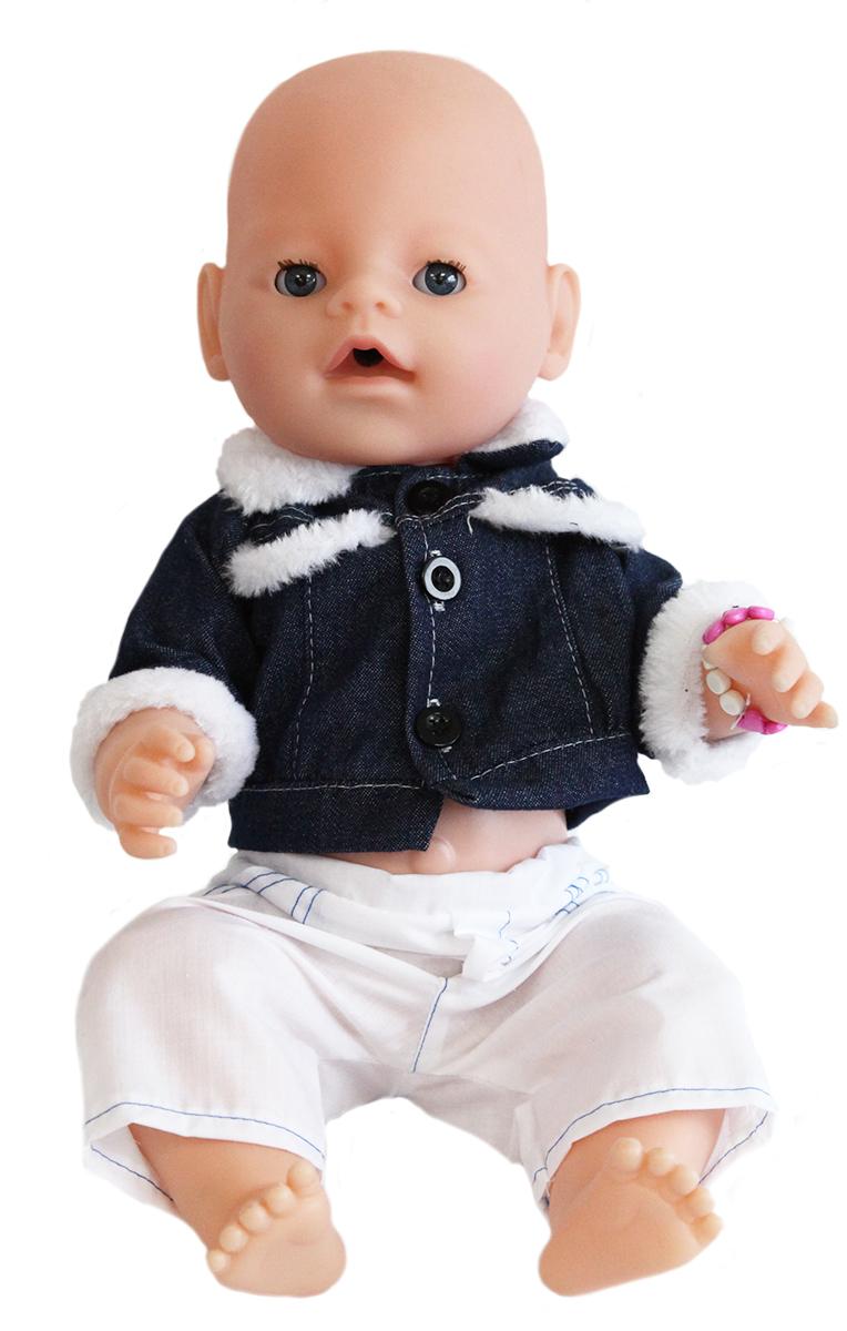 S+S Toys Пупс цвет одежды белый темно-синий
