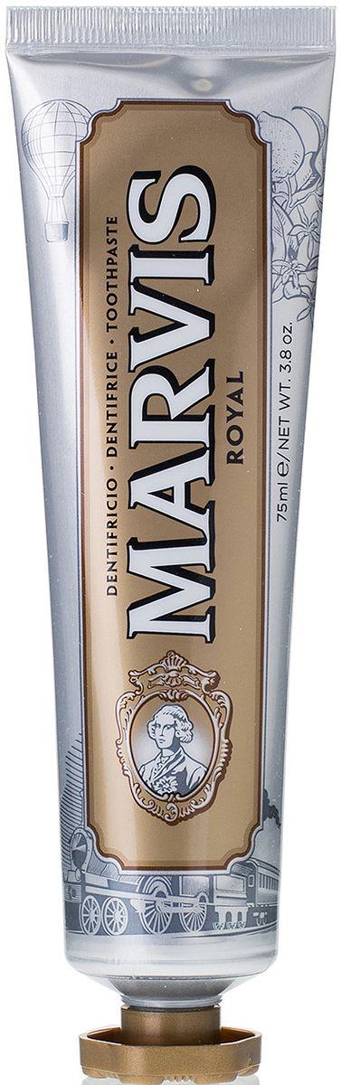 Marvis Зубная паста Royal, 75 млMP59.3DОткройте Вкус вместе с Marvis. Роскошные и элегантные путешествия на ВОСТОЧНОМ ЭКСПРЕССЕ вдохновили нас на создание зубной пасты «РОЙЯЛ» с уникальным утонченным вкусом, сочетающим ароматы масла итальянского лимона, мандарина, экстракта розы и мускатного ореха. Это головокружительно пикантное сочетание, усиленное мятой, обеспечивает абсолютно новый сенсорный опыт.