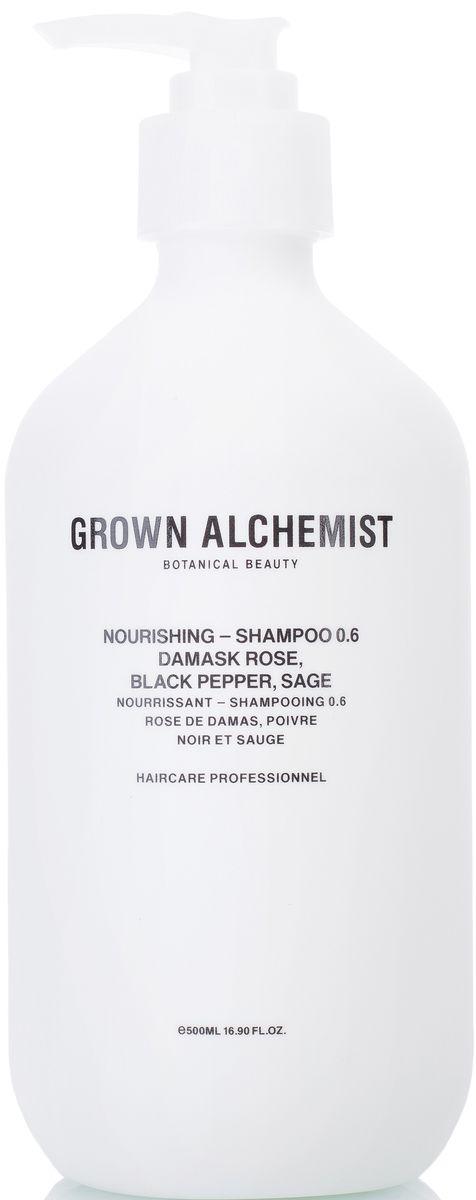 Grown Alchemist Питательный шампунь, 500 млFS-00897Мягкая и богатая питательными веществами формула шампуня оставляет волосы чистыми, блестящими и ухоженными. Шампунь идеален для ежедневного использования, обеспечивает легкое расчесывание и силу волос без пересушивания.