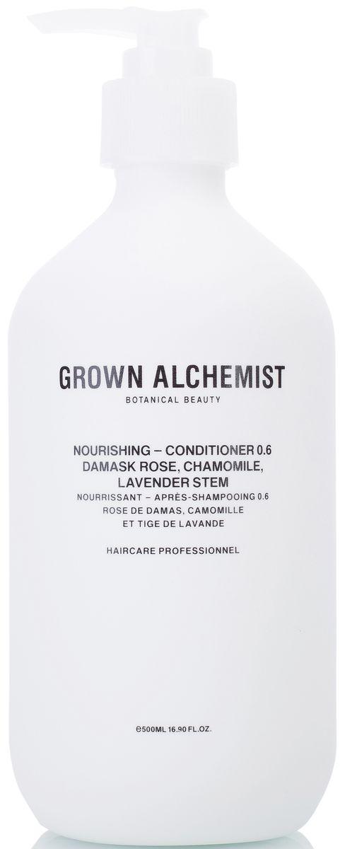 Grown Alchemist Питательный кондиционер для волос, 500 млGRA0218Высокоэффективный питательный кондиционер, идеальный для ежедневного использования. Помогает сохранять и усиливать здоровый блеск волос, их силу, послушность и мягкость, при этом обеспечивает защиту волосяного стержня.