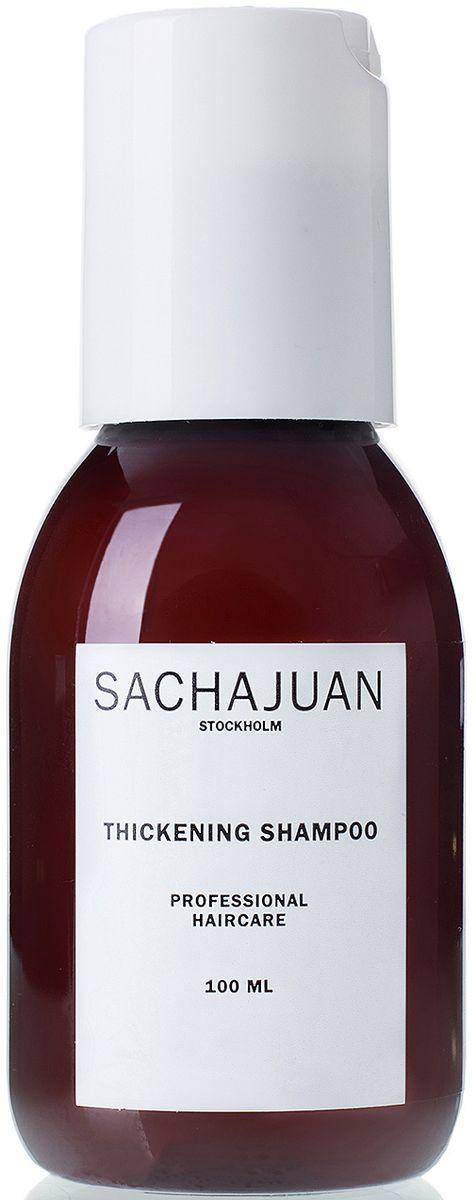 Sachajuan Уплотняющий шампунь, 100 млSCHJ220Шампунь для густоты волос THICKENING SHAMPOO с технологиями Ocean Silk и технологией для плотности волос придает волосам объем и гладкость, а также питает их, что делает волосы послушными и легко поддающиеся укладке. Термозащитные элементы работают совместно с вышеперечисленными технологиями для улучшения здоровья волос и придания им блеска.