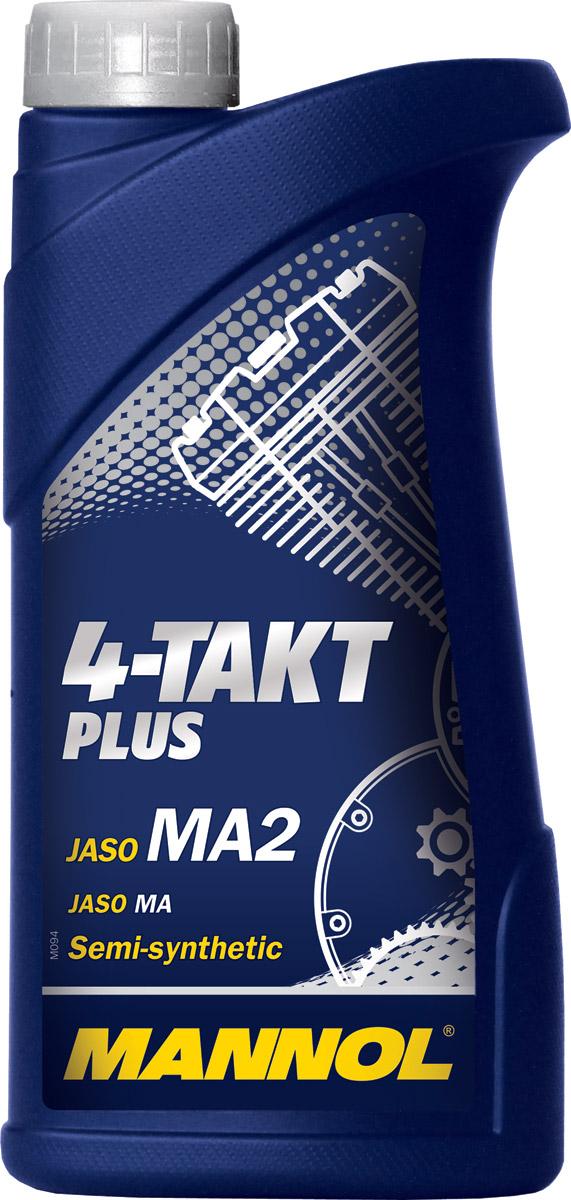 Масло моторное MANNOL 4-Takt Plus, полусинтетическое, 1 л1400Моторное масло Mannol 4-Takt Plus - высокоэффективное полусинтетическое масло, предназначенное для смазки четырехтактных двигателей современных мотоциклов, квадроциклов, скутеров и прочей мототехники с воздушным или водяным охлаждением. Пакет синтетических компонентов обеспечивает максимальную защиту от износа и задира стенок цилиндров при экстремальных нагрузках двигателя. Обеспечивает легкий холодный старт. Продукт имеет допуски / соответствует спецификациям / продуктам: JASO MA/MA2.Вязкость при 100°C: 12,8 CSt.Вязкость при 40°C: 83,7 CSt.Вязкость при -25°C: 6000 CP.Индекс вязкости: 151.Плотность при 15°C: 880 kg/m3.Температура вспышки COC: 222 °C.Температура застывания: -30 °C.Товар сертифицирован.