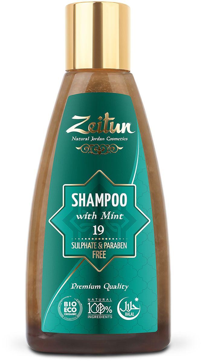 Зейтун Шампунь для волос №19 с мятой, 150 млFS-00610Ещё один универсальный шампунь в нашей линейке средств по уходу за волосами. Хорошо очищает кожу головы и волосы, благодаря сбалансированному составу масел и экстрактов может использоваться ежедневно для всех типов волос. Обладает легким успокаивающим и релаксирующим ароматерапевтическим эффектом.
