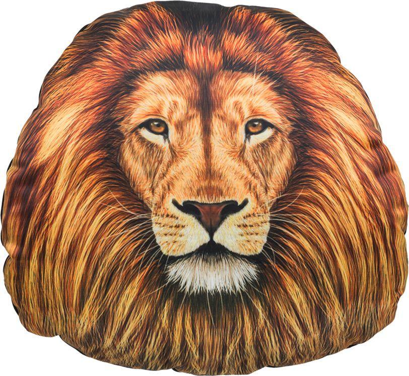 Подголовник GiftnHome Лев, 30 х 31 см21395599Изделие изготовлено из искусственного шелка - атласа! Наполнитель: холлофайбер, наволочка на молнии, крепятся на резинки.
