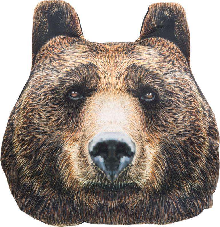 Подголовник GiftnHome Медведь, 30 х 32 см94672Изделие изготовлено из искусственного шелка - атласа! Наполнитель: холлофайбер, наволочка на молнии, крепятся на резинки.