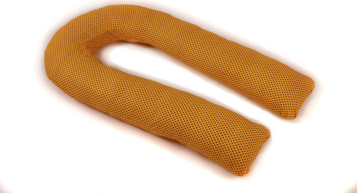 Body Pillow Наволочка для U-образной подушки цвет желтый черный 90 х 150 смES-412Наволочка Body Pillow идеально подойдет для подушки для беременных и кормящих U-образной формы 90 х 150 см.Съемная наволочка изготовлена на молнии из 100% хлопка с рисунком черного гороха на желтом фоне.