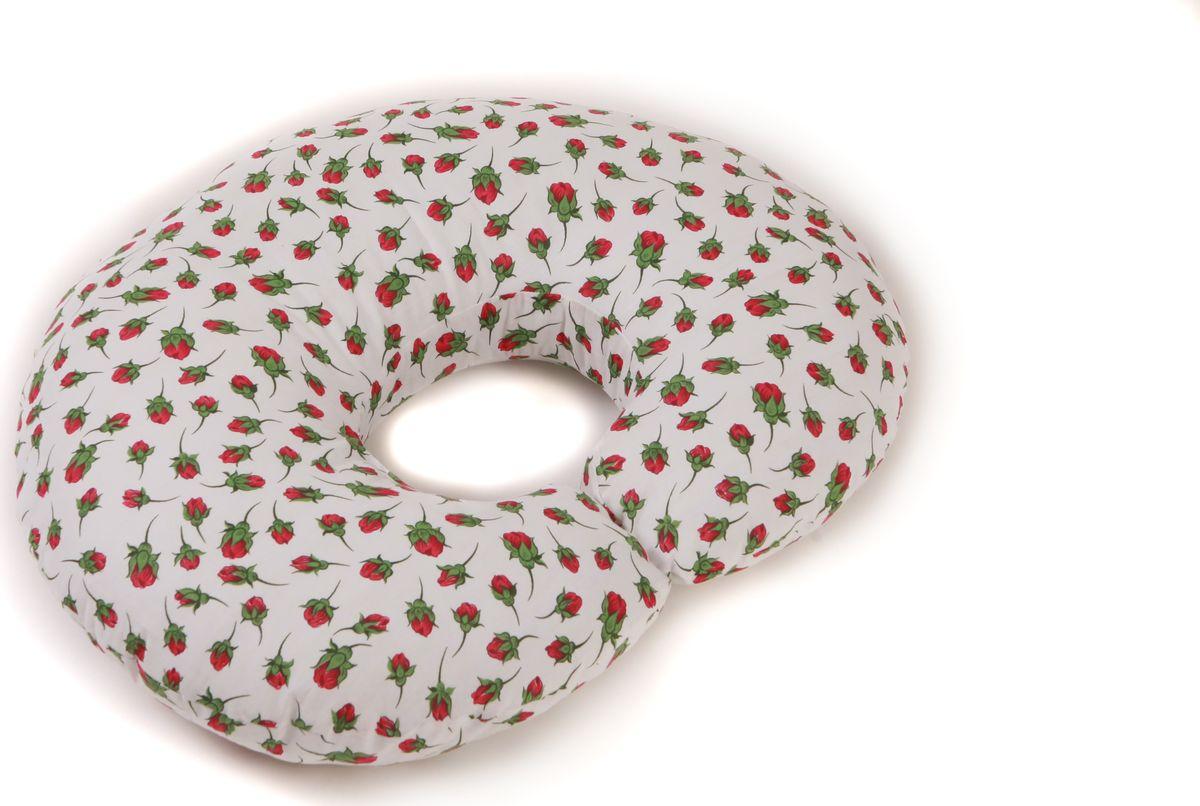 Body Pillow Наволочка для C-образной подушки цвет белый 75 х 140 смES-412Наволочка Body Pillow идеально подойдет для подушки для беременных и кормящих C-образной формы 75 х 140 см.Съемная наволочка изготовлена на молнии из 100% хлопка с рисунком красных роз на белом фоне.