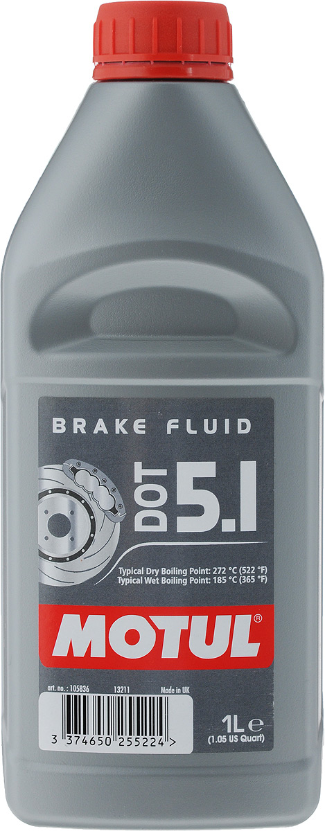 Жидкость тормозная Motul DOT 5.1 Brake Fluid, 1 л lcl 31 32 33 34 2 pack black ink cartridge compatible for dell v525w dell v725w