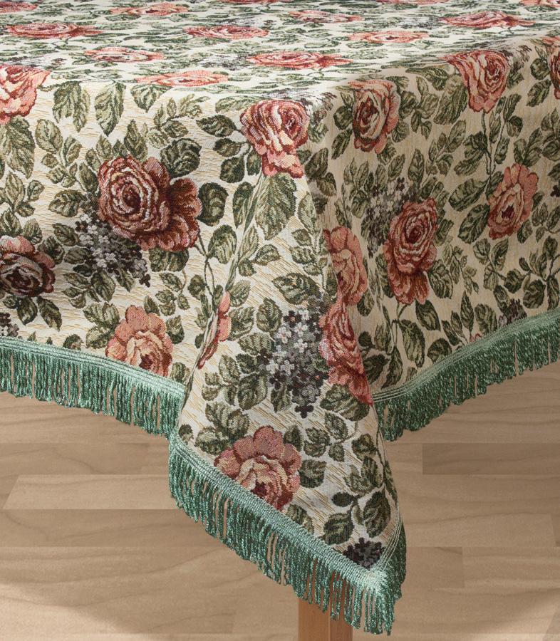 Скатерть Les Gobelins Art Floral, квадратная, 130 х 130 смlns193975Квадратная скатерть Les Gobelins Art Floral с ярким цветочным рисунком привлечет к себе внимание и органично впишется в интерьер комнаты. Изделие изготовлено из высококачественной ткани гобелен и оформлено бахромой и кисточками. Необычайная красота сочетается в этой скатерти с высокой прочностью и долговечностью, а свойство гобелена по-разному проявлять себя в зависимости от освещения помещения позволяет открывать все новые и новые детали, которые, как казалось, раньше скрывал гобелен.Красочная и приятная на ощупь скатерть сделает любое застолье торжественным, а интерьер - уютным и своеобразным.Расположение рисунка на скатерти соответствует фотографии.Состав материала:52% хлопок, 48% полиэстер.