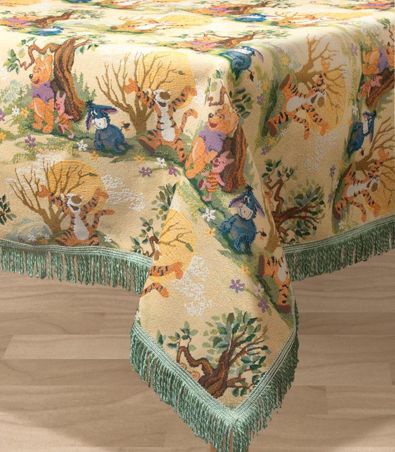 Скатерть Les Gobelins Winnie LOurson, прямоугольная, 150 х 190 смVT-1520(SR)Прямоугольная скатерть Les Gobelins Winnie LOurson с ярким рисунком привлечет к себе внимание и органично впишется в интерьер комнаты. Изделие изготовлено из высококачественной ткани гобелен и оформлено бахромой и кисточками. Необычайная красота сочетается в этой скатерти с высокой прочностью и долговечностью, а свойство гобелена по-разному проявлять себя в зависимости от освещения помещения позволяет открывать все новые и новые детали, которые, как казалось, раньше скрывал гобелен.Красочная и приятная на ощупь скатерть сделает любое застолье торжественным, а интерьер - уютным и своеобразным.Расположение рисунка на скатерти соответствует фотографии.Состав материала:50% хлопок, 50% полиэстер.