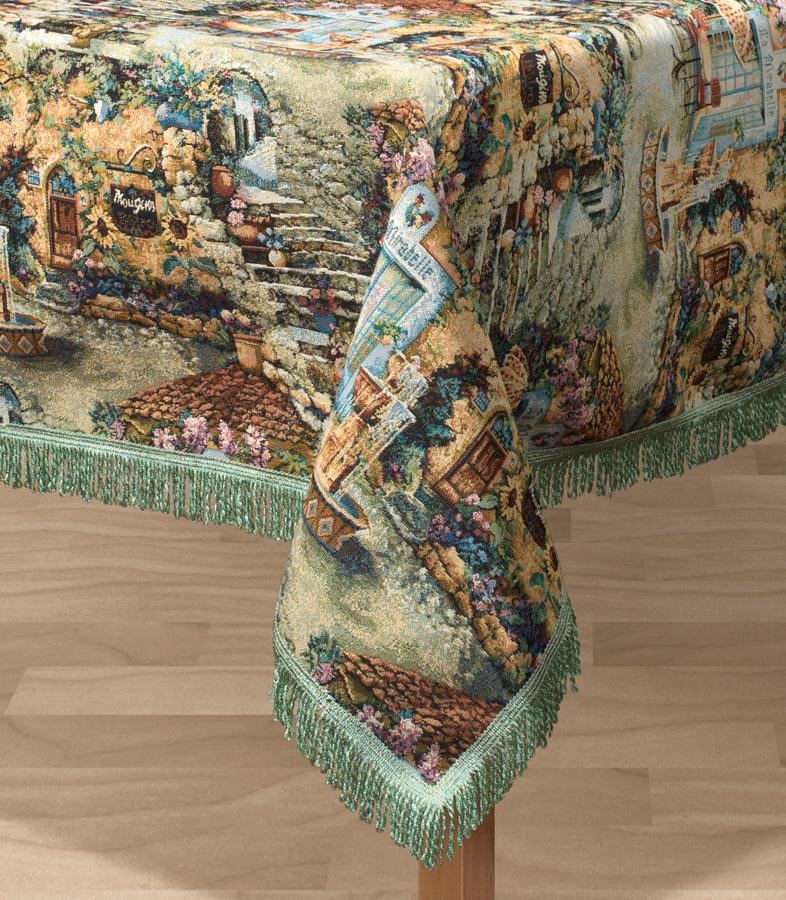 Скатерть Les Gobelins Jardin DEden, прямоугольная, 150 х 190 смK100Прямоугольная скатерть Les Gobelins Jardin DEden с ярким рисунком привлечет к себе внимание и органично впишется в интерьер комнаты. Изделие изготовлено из высококачественной ткани гобелен и оформлено бахромой и кисточками. Необычайная красота сочетается в этой скатерти с высокой прочностью и долговечностью, а свойство гобелена по-разному проявлять себя в зависимости от освещения помещения позволяет открывать все новые и новые детали, которые, как казалось, раньше скрывал гобелен.Красочная и приятная на ощупь скатерть сделает любое застолье торжественным, а интерьер - уютным и своеобразным.Расположение рисунка на скатерти соответствует фотографии.Состав материала:49% хлопок, 51% полиэстер.