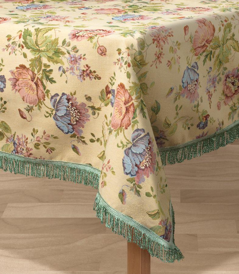 Скатерть Les Gobelins Gloria, квадратная, 130 х 130 смVT-1520(SR)Квадратная скатерть Les Gobelins Gloria с ярким цветочным рисунком привлечет к себе внимание и органично впишется в интерьер комнаты. Изделие изготовлено из высококачественной ткани гобелен и оформлено бахромой и кисточками. Необычайная красота сочетается в этой скатерти с высокой прочностью и долговечностью, а свойство гобелена по-разному проявлять себя в зависимости от освещения помещения позволяет открывать все новые и новые детали, которые, как казалось, раньше скрывал гобелен.Красочная и приятная на ощупь скатерть сделает любое застолье торжественным, а интерьер - уютным и своеобразным.Расположение рисунка на скатерти соответствует фотографии.Состав материала:48% хлопок, 52% полиэстер.