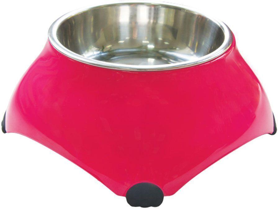 Миска Super Design меламиновая, высокая, для собак, 160 мл, цвет: малиновый0120710Миски для маленьких собачек для корма или воды.Миска приподнята над уровнем пола, что создает дополнительное удобство питомцу. Высота миски 7 см. Подставка выполнена из прочного полимера, устойчивого к образованию царапин и трещин. Вынимающееся металлическое блюдце выполнено из нержавеющей стали, легко моется любыми бытовыми моющими средствами. Подходит для мытья в посудомоечной машине. Объем 160 мл.