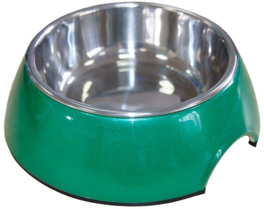 Миска для животных Super Design, на меламиновой подставке, цвет: зеленый перламутр, 160 млCBOWL31IМиска Super Design для собак и кошек подходит для корма или воды. Подставка выполнена из прочного полимера, устойчивого к образованию царапин и трещин. Вынимающееся металлическое блюдце выполнено из нержавеющей стали, легко моется любыми бытовыми моющими средствами. Подходит для мытья в посудомоечной машине. Объем 160 мл.