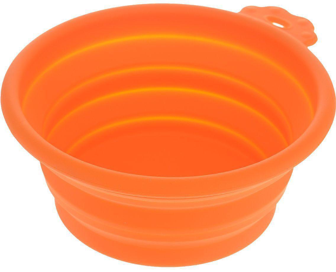 Миска для животных Super Design, силиконовая, складная, цвет: оранжевый, 700 мл73367Складная силиконовая миска Super Designn предназначена для корма и воды. Миску очень удобно брать с собой в путешествие - она занимает мало место, складывается в одно мгновение.Объем: 700 мл.
