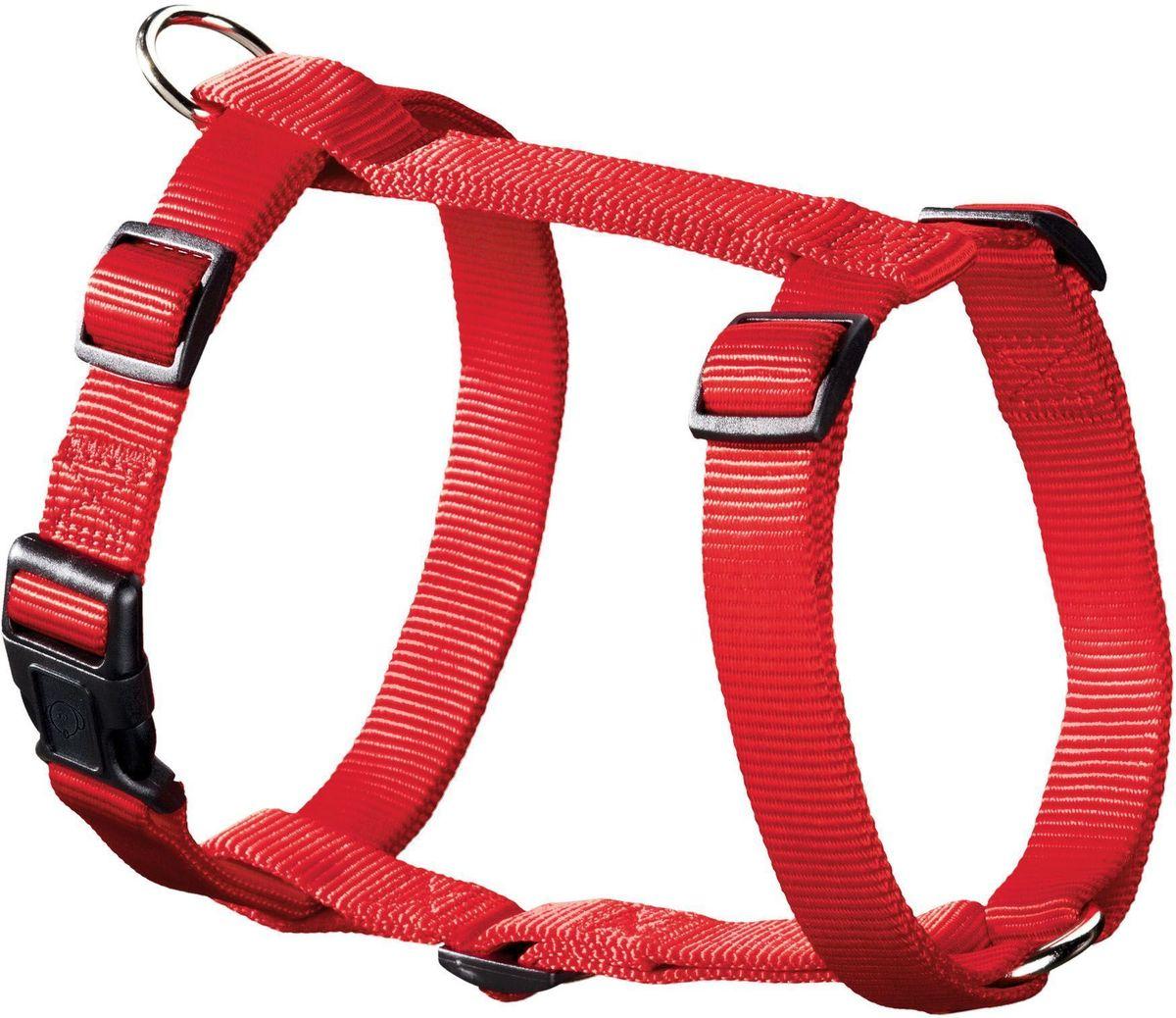 Шлейка для собак Hunter Smart. Ecco Sport XS, нейлоновая, обхват шеи: 23-35 см, обхват груди: 25-41 см, цвет: красный шлейка для собак hunter ecco sport xs 23 35 25 41 см нейлон лиловый