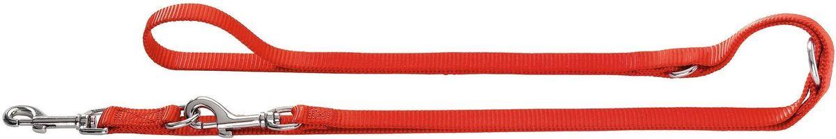 Поводок Hunter Smart. Ecco, перестежка, 20/200, нейлоновый, цвет: красный0120710Нейлоновый поводок-перестежка Hunter Smart (Хантер смарт) серии Eco 20/200 (Эко 20/200), красного цвета - полезный и яркий аксессуар. Насыщенный цвет и удобная застежка порадуют вас и вашего любимца. Поводок имеет 2 карабина и 3 кольца, что позволяет варьировать его длину для вашего удобства. Ширина поводка 20 мм, максимальная длина 180 см.