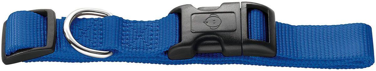 Ошейник для собак Hunter Smart Ecco S, цвет: синий0120710Ошейник для собак Hunter Smart Ecco предназначен для собак мелких и средних пород. Ошейник изготовлен из нейлона. Пластиковый бегунок позволяет регулировать и фиксировать ошейник. Изделие оснащено хромированным металлическим кольцом для поводка. Обхват шеи: 30 см - 45 см. Ширина ошейника: 1,5 см.