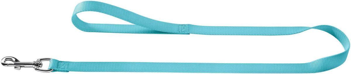 Поводок Hunter Ecco, для собак, 10/110, нейлоновый, цвет: бирюзовый0120710Выполнен из нейлона, имеет удобную петлю для руки, а также надежный карабин для сцепления с ошейником. Он легко присоединяется и отсоединяется от ошейника. Длина 110 см, ширина 10 мм. Цвет: бирюза.