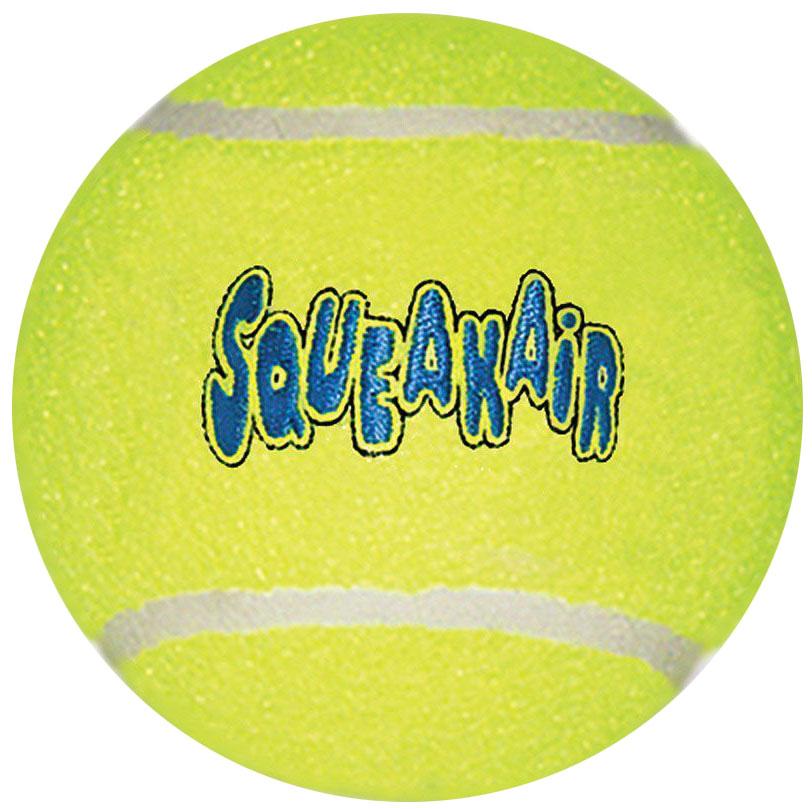 Игрушка для собак Kong Air. Теннисный мяч, очень большой, диаметр 11 см0120710Игрушка для собак Kong Air. Теннисный мяч предназначена для собак крупных пород (свыше 25 кг). Мяч изготовлен из особого неабразивного войлока.Игрушки для собак Air Kong - это на 100% настоящие теннисные мячи различных забавных форм и размеров. Эти игрушки имеют непредсказуемую траекторию полета при отскакивании от земли и других поверхностей и могут плавать по поверхности воды. Идеальная игрушка для тренинга собак охотничьих пород. Отличная забава для энергичных собак.Диаметр 11 см.
