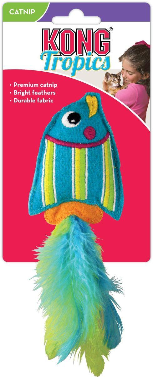 Игрушка для кошек Kong Тропическая рыбка, цвет: голубой, длина 12 смsh-08034MKong Тропическая рыбка — это сочетание прочного и мягкого фетра и лучшей североамериканской кошачьей мяты. Эта игрушка способна раскрыть инстинктивную игривость вашей кошки. Эти игрушки привлекают к активным играм, а мягкий войлок делает ее отличной добычей для кошачьей охоты. Яркие перья добавят удовольствия вашим питомцам.Лучшая кошачья мятаЯркие перьяДолговечная ткань