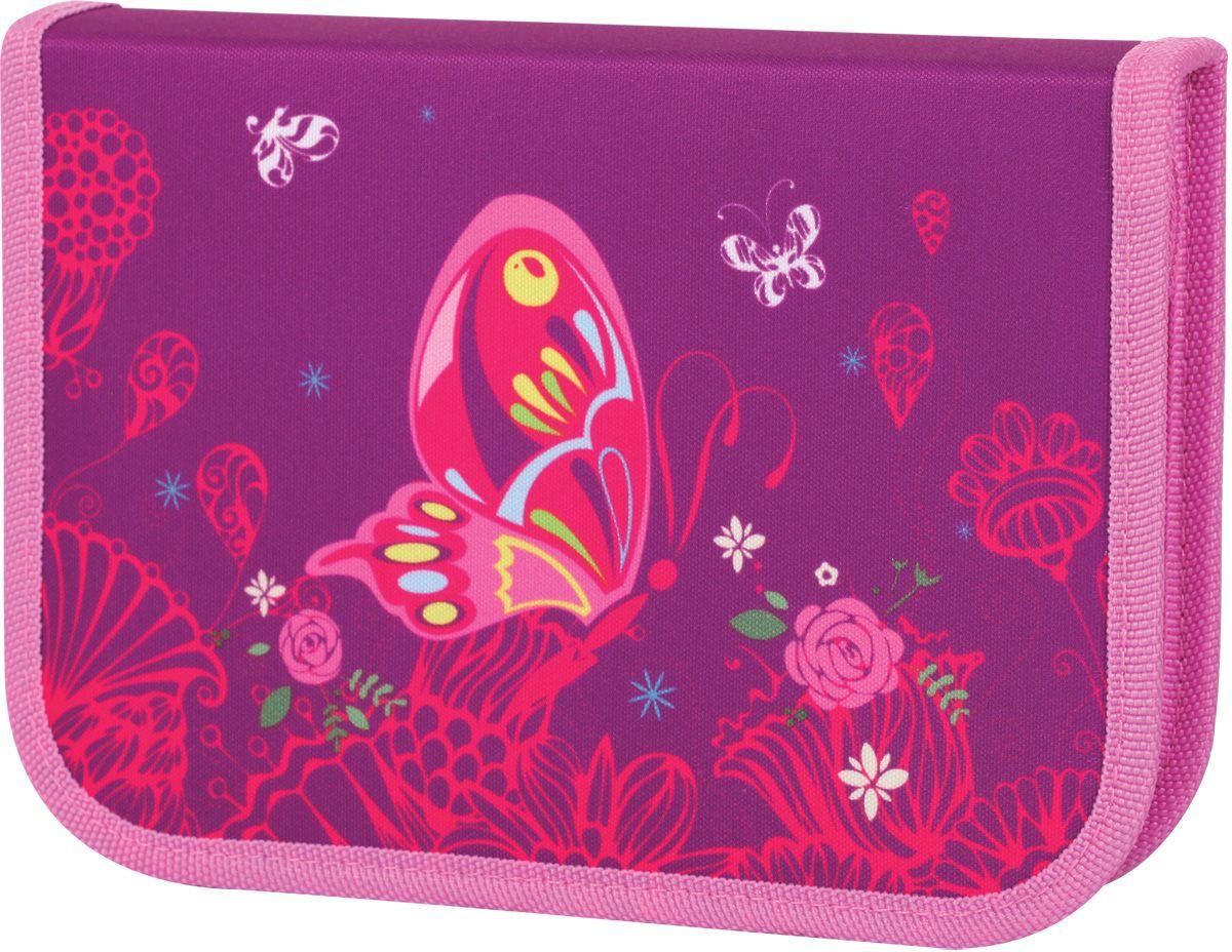 Tiger Enterprise Пенал Волшебный сад72523WDПенал благородного фиолетового цвета с изящным и стильным рисунком. Идеальный выбор для маленьких леди с безупречным вкусом. Благодаря откидной планке он вмещает еще больше нужных канцелярских принадлежностей: каждая мелочь на своем месте.