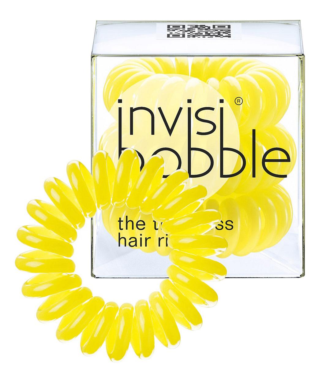 Invisibobble Резинка-браслет для волос Submarine Yellow, 3 штSatin Hair 7 BR730MNОригинальные резинки-браслеты Invisibobble в форме телефонного шнура, созданные в Германии.Резинки-браслеты Invisibobble подходят для всех типов волос, надежно фиксируют прическу, не оставляют заломов и не вызывают головную боль благодаря неравномерному распределению давления на волосы. Кроме того, они не намокают и не вызывают аллергию при контакте с кожей, поскольку изготовлены из искусственной смолы. Резинка-браслет Invisibobble черного цвета.C резинками Invisibobble можно легко создавать разнообразные прически. Резинки прочно держат волосы любой длины, при этом, не стягивая их слишком туго. Телефонный провод позволяет с легкостью и без вреда для волос протягивать пряди под спираль и ослаблять уже закрепленные для придания объема прическе. Invisibobble Original идеально подходят для ежедневного применения.Не комедогенна.