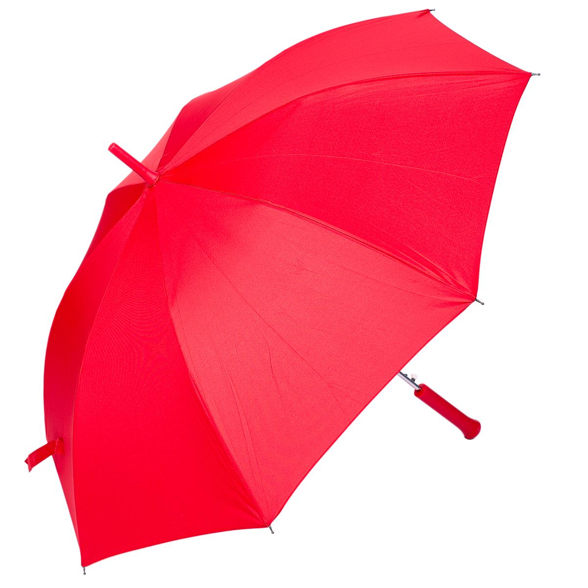 Зонт-трость женский Nuages, цвет: красный. NZ1240/4redCX1516-50-10Зонт - трость. Однотонный. 8 спиц. Автоматическое открытие.