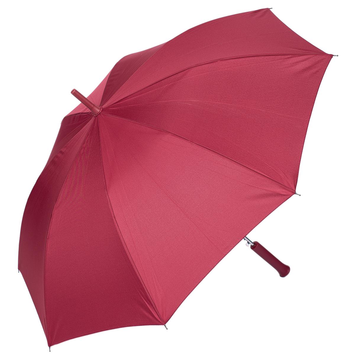 Зонт-трость женский Nuages, цвет: бордовый. NZ1240/5bordoКолье (короткие одноярусные бусы)Зонт - трость. Однотонный. 8 спиц. Автоматическое открытие.