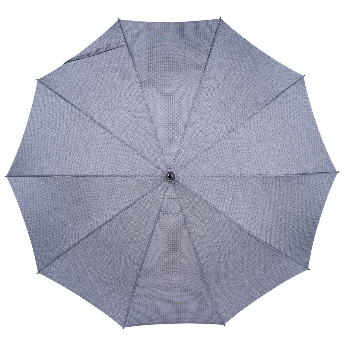 Зонт-трость женский Stilla, механика, цвет: серый. 782/2/10 woodКолье (короткие одноярусные бусы)Зонт-трость Stilla надежно защитит вас от дождя. Купол, оформленный оригинальным принтом, выполнен из высококачественного полиэстера, который не пропускает воду. Каркас зонта и спицы выполнены из высококарбонистой стали. Удобная цельнодеревянная ручка выполнена из гнутого клена.