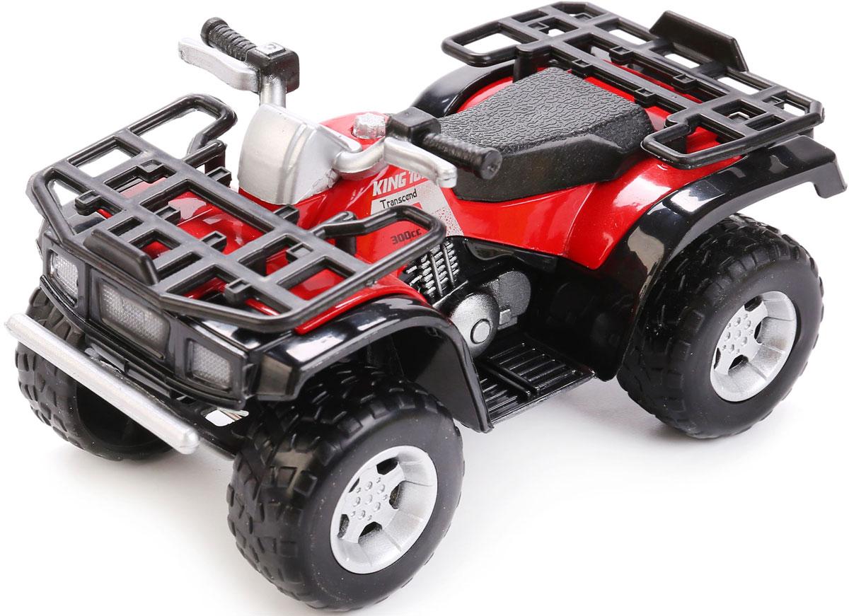 ТехноПарк Квадроцикл инерционный цвет красный черный, Shantou City Daxiang Plastic Toy Products Co., Ltd