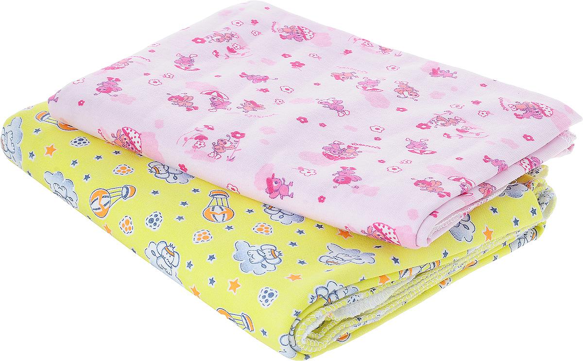 Фреш Стайл Комплект пеленок цвет розовый желтый 90 х 130 см 2 шт5111Хлопковые пеленки Фреш Стайл подходят для пеленания ребенка с самого рождения.Мягкая ткань укутывает малыша с необычайной нежностью. Такая ткань прекрасно дышит, она гипоаллергенна, обладает повышенными теплоизоляционными свойствами и не теряет формы после стирки.Пеленку также можно использовать как легкое одеяло, простынку, полотенце после купания, накидку для кормления грудью.В комплект входят две пеленки.Предварительная стирка обязательна. Стрика при 40 °C, гладить при температуре не выше 150 °C, можно отжимать и сушить в стиральной машине, не отбеливать, не подвергать химчистке.