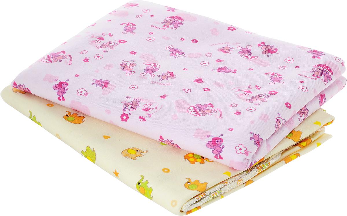 Фреш Стайл Комплект пеленок цвет розовый бежевый 90 х 130 см 2 шт5221Хлопковые пеленки Фреш Стайл подходят для пеленания ребенка с самого рождения.Мягкая ткань укутывает малыша с необычайной нежностью. Такая ткань прекрасно дышит, она гипоаллергенна, обладает повышенными теплоизоляционными свойствами и не теряет формы после стирки.Пеленку также можно использовать как легкое одеяло, простынку, полотенце после купания, накидку для кормления грудью.В комплект входят две пеленки.Предварительная стирка обязательна. Стрика при 40 °C, гладить при температуре не выше 150 °C, можно отжимать и сушить в стиральной машине, не отбеливать, не подвергать химчистке. 2 пеленки