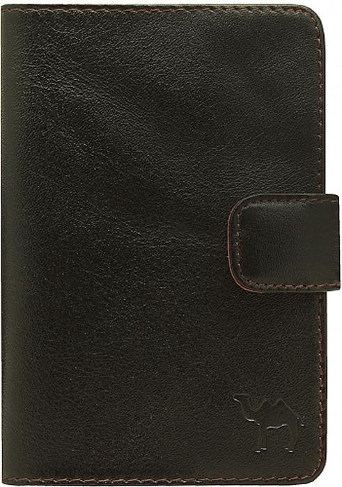 Обложка для паспорта мужская Dimanche Сахара, цвет: черный. 760DC-17-0080-1-1Обложка для документов Dimanche Сахара выполнена из натуральной кожи. На внутреннем развороте 5 прорезных кармашков для визиток/кредиток. Закрывается хлястиком на кнопку. Упакована в картонную подарочную коробку.