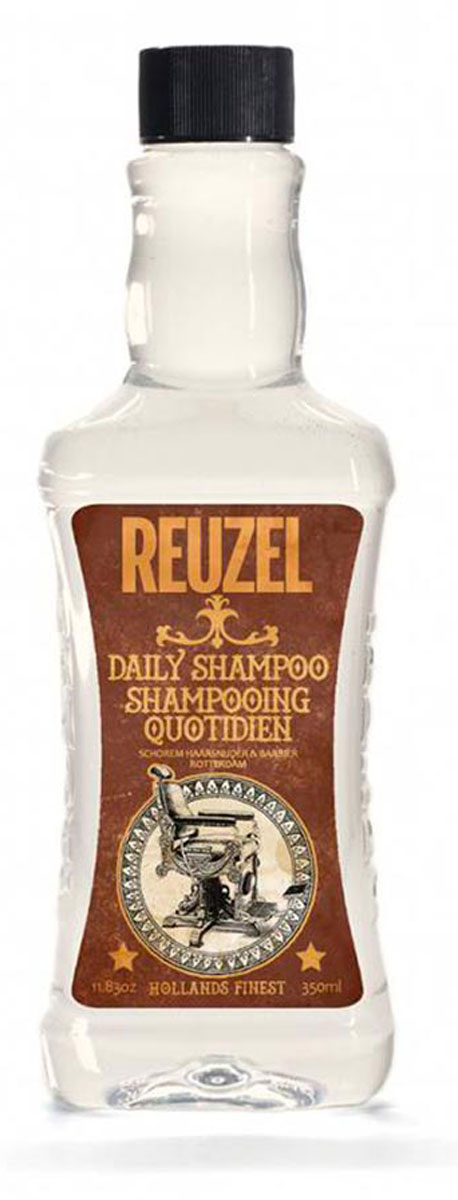 Reuzel ежедневный шампунь для волос 350млZ0435Концентрированный шампунь с тонизирующим настоем гамамелиса, листьев крапивы, розмарина и корня хвоща обеспечивает эффективное очищение и увлажнение волос и кожи головы. Охлаждает и тонизирует, стимулирует микроциркуляцию кожи головы. Подходит для всех типов волос. Предназначен для ежедневного использования.