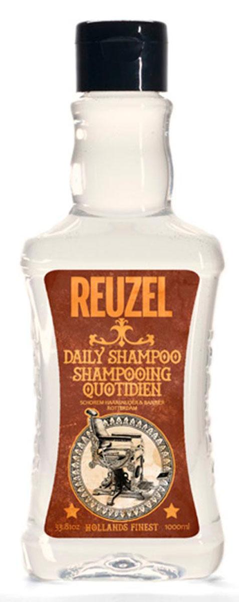 Reuzel ежедневный шампунь для волос 1000млMP59.4DКонцентрированный шампунь с тонизирующим настоем гамамелиса, листьев крапивы, розмарина и корня хвоща обеспечивает эффективное очищение и увлажнение волос и кожи головы. Охлаждает и тонизирует, стимулирует микроциркуляцию кожи головы. Подходит для всех типов волос. Предназначен для ежедневного использования.
