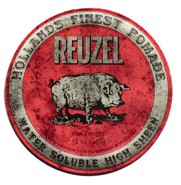 Reuzel помада для укладки волос, красная банка 340грMP59.4DПомада REUZEL красная: ультраблескПомада Reuzel в красной банке придаёт укладке ультраблеск, фиксирует как воск, но смывается водой так же просо как гель. Эта супер-концентрированная помада подходит для волос любого типа и полирует до блеска любую причёску: от помпадура и квиффа до slick back и любых смелых форм в укладке. Красная помада Reuzel сохраняет пластичность весь день, никогда не затвердевает и не превращается в хлопья. С аромат ванильной колы.- Сильная фиксация как у воска- Суперблеск и эффект отполированной укладки- Состав на водной основе, легко смывается- Превосходная прическа весь день