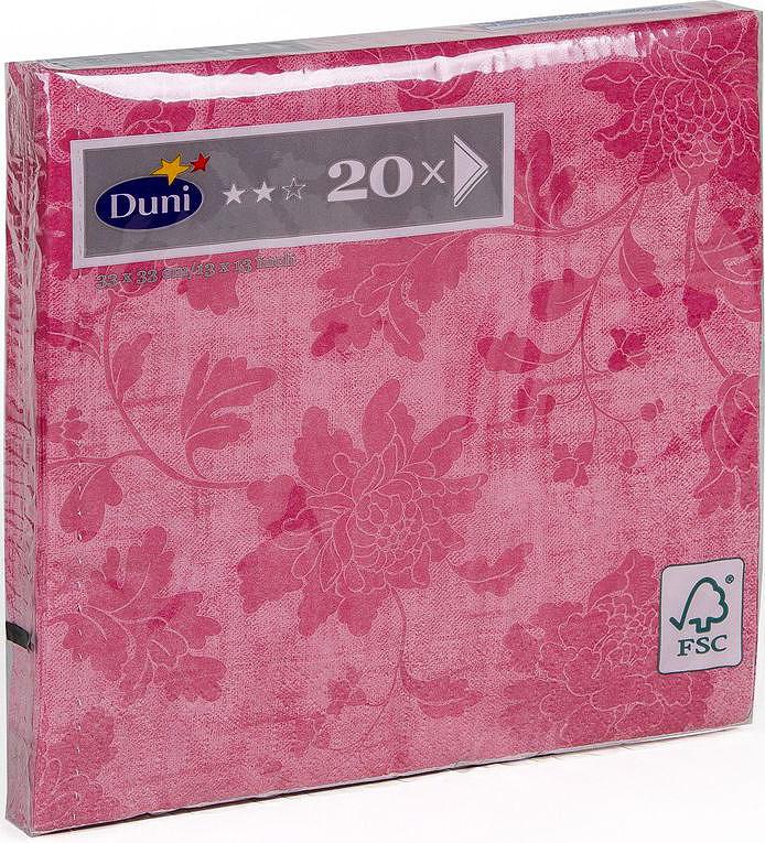 Салфетки бумажные Duni Венеция Роуз, 3-слойные, 33 х 33 см, 20 штCDF-16Трехслойные бумажные салфетки изготовлены из экологически чистого, высококачественного сырья - 100% целлюлозы. Салфетки выполнены в оригинальном и современном стиле, прекрасно сочетаются с любым интерьером и всегда будут прекрасным и незаменимым украшением стола.
