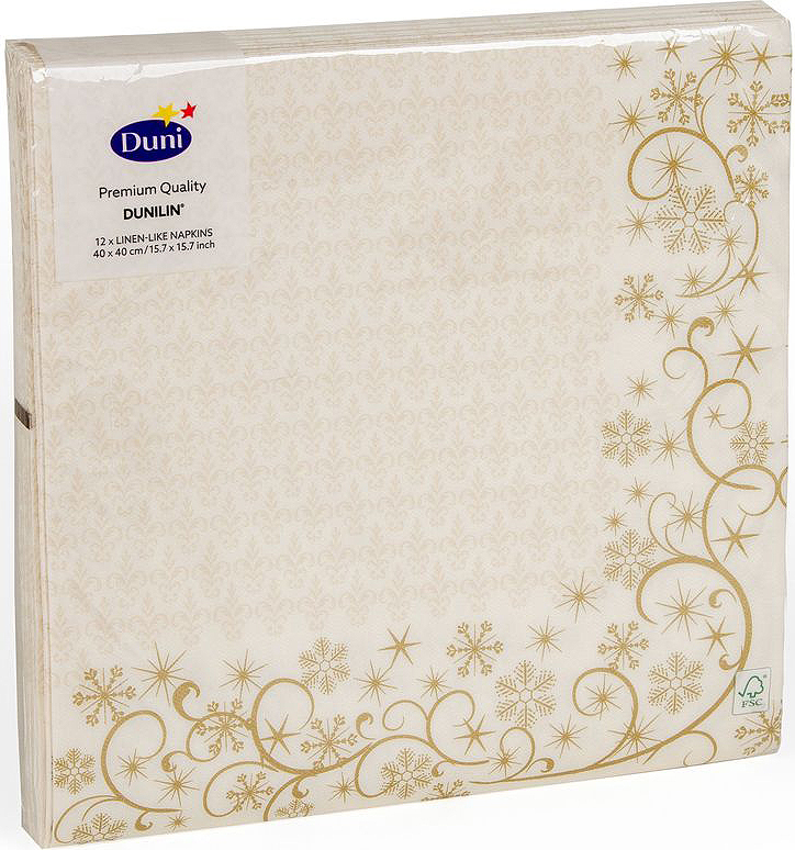 Салфетки бумажные Duni DL Soft. Ornatex-Mas Cream, 40 смVT-1520(SR)Многослойные бумажные салфетки изготовлены из экологически чистого, высококачественного сырья - 100% целлюлозы. Салфетки выполнены в оригинальном и современном стиле, прекрасно сочетаются с любым интерьером и всегда будут прекрасным и незаменимым украшением стола.