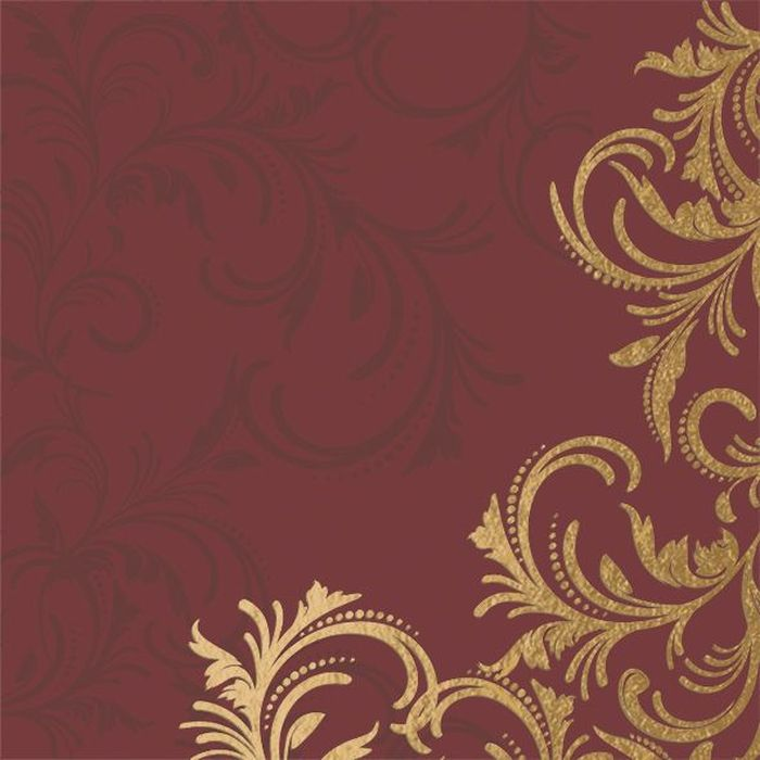 Салфетки бумажные Duni DL Soft, 3-слойные, цвет: бордовый, золотой, 40 х 40 см, 12 шт92216Трехслойные бумажные салфетки Duni DL Soft изготовлены из экологически чистого, высококачественного сырья - 100% целлюлозы. Они выполнены в оригинальном и современном стиле, прекрасно сочетаются с любым интерьером и всегда будут прекрасным и незаменимым украшением стола.Размер салфеток: 40 х 40 см.