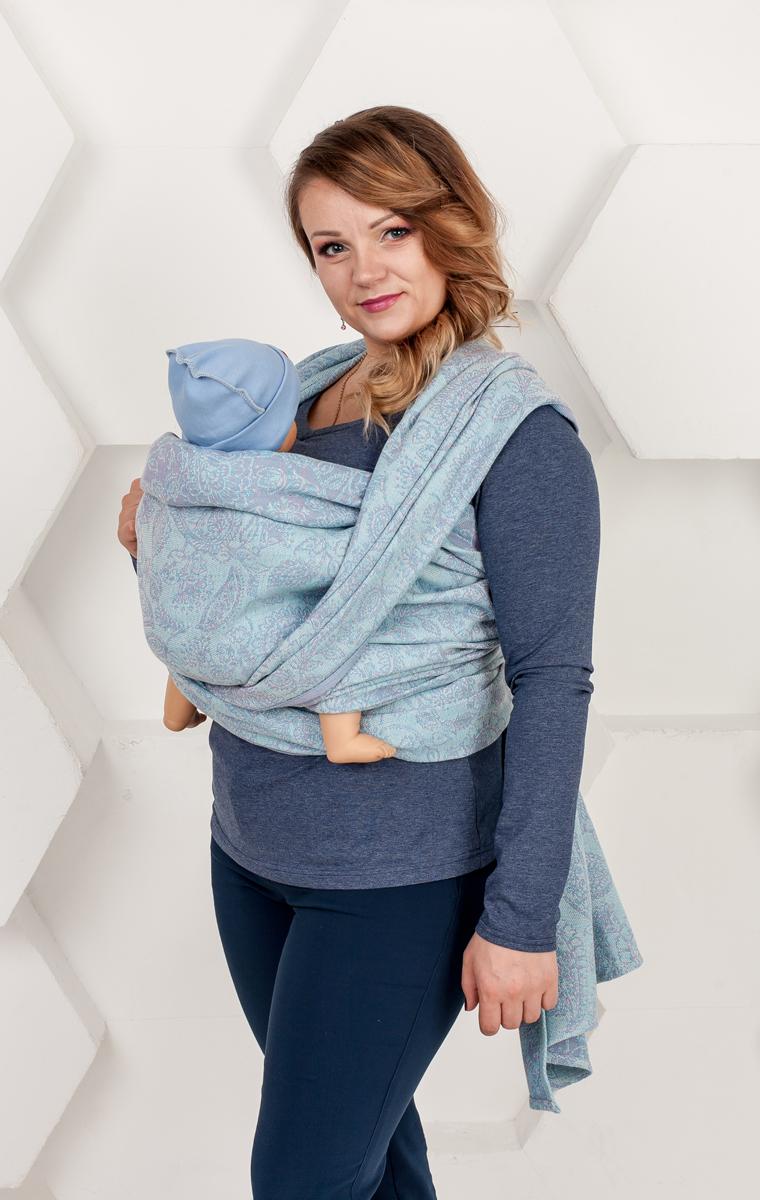 Мамарада Слинг-шарф Магические огурцы Soft Жасмин размер 42-46 - Рюкзаки, слинги, кенгуру