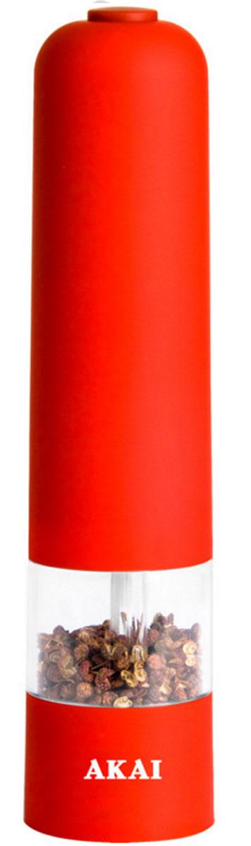 Измельчитель для специй Akai, электрический. 1510RL/NEWVT-1520(SR)Измельчитель для специй электрический. Керамические жернова. Регулировка степени помола. Прорезиненный корпус. Подсветка. Управление одной рукой. Работает от 4 АА батареек (не входят в комплектацию). Вес нетто: 200 г.