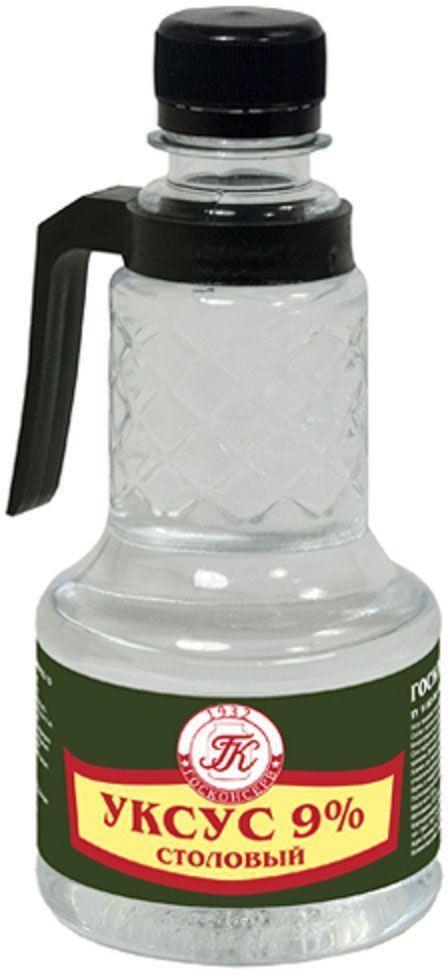 Госконсерв уксус столовый 9%, 350 г0120710Уксус столовый пищевой идеально подходит для заправки салатов и домашнего консервирования.