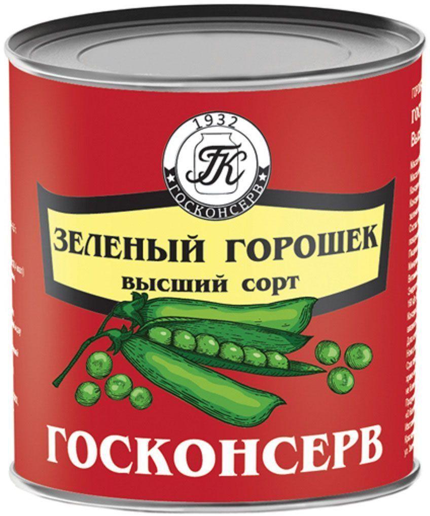 Госконсерв горошек зеленый мозговых сортов, 425 г0120710Высший, мозговой сорт богат витаминами В-каротином, минеральными веществами.