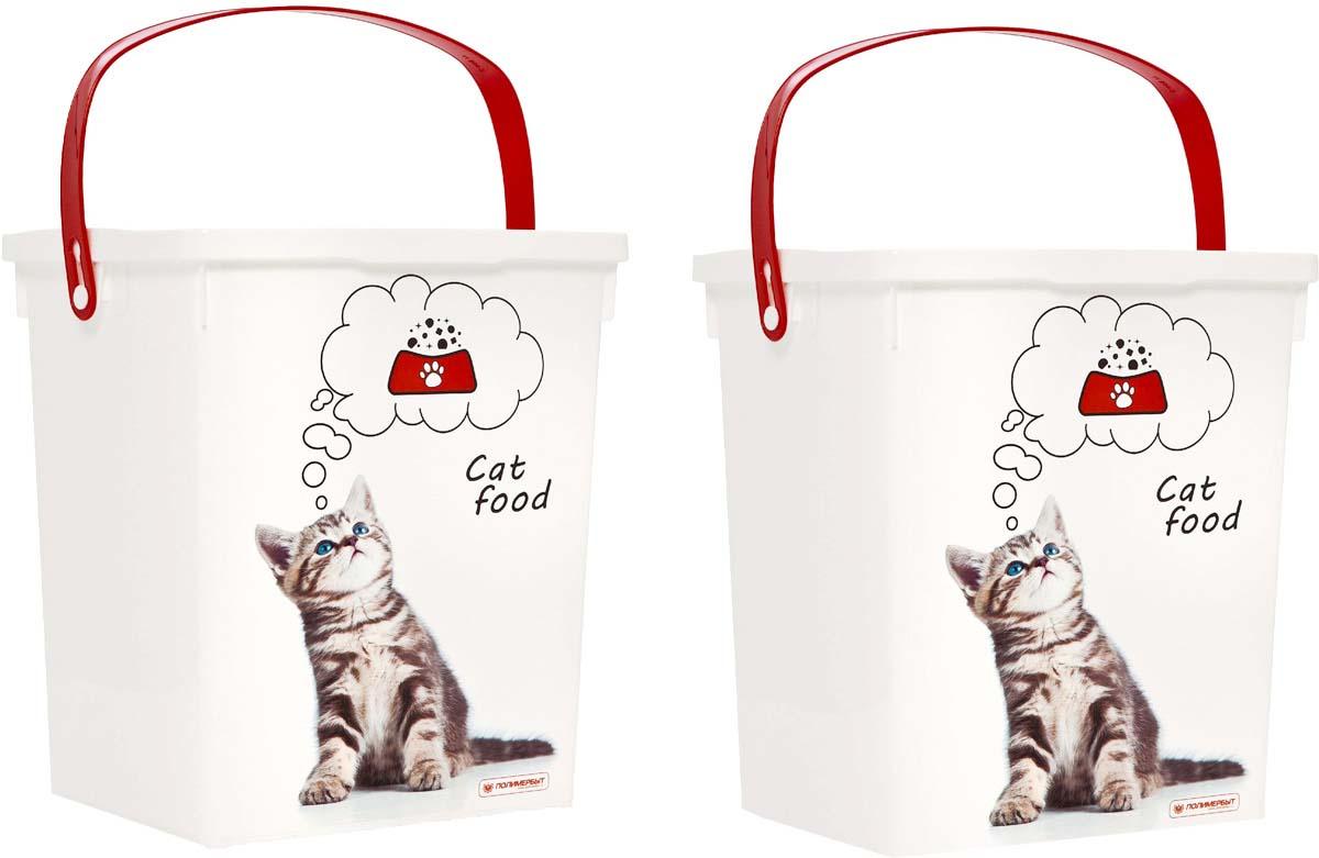 Комплект контейнеров Полимербыт, для корма животных, 2 шт. SGHPBKP2160120710Комплект из 2 контейнеров для корма животных. Объем: 5 л. Многофункциональный, пригодиться в быту для любых случаев. Удобные в использовании и хранении.